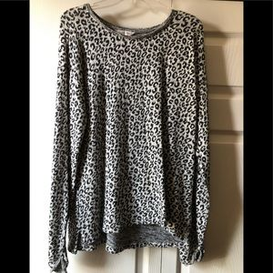 Christopher & Banks animal print sweater L